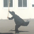 L'enchaînement «Âm Thủ Côn» exécuté par Thai-Nhat-Quan Romain NGUYEN lors du 2nd carnaval de l'Europe et d'ailleurs du lycée Chrestiens de Troyes.